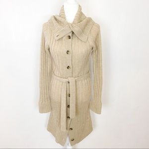 Banana Republic Button Front Cardigan Coat / Med